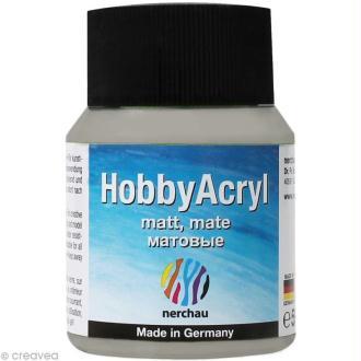 Peinture Acrylique Mate - Hobby Acryl Argent - 59 ml