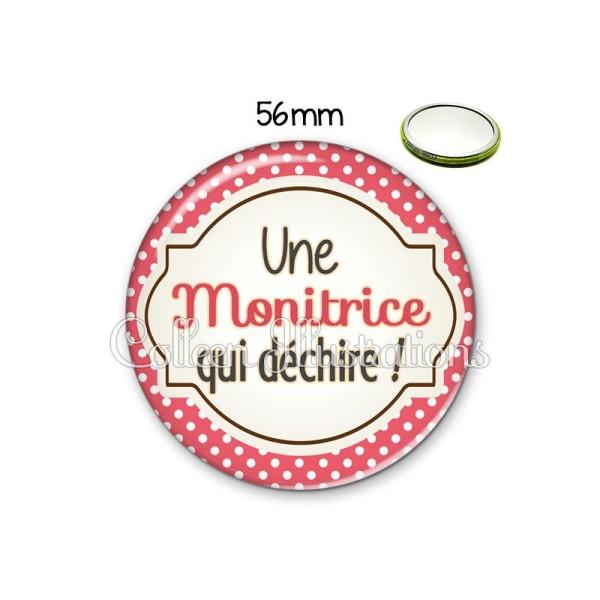 Miroir 56mm Monitrice qui déchire - Photo n°1