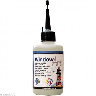 Peinture sur fenêtre - Window Art Argent Pailleté - 80 ml