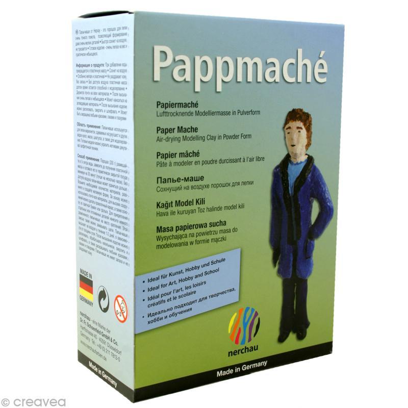 Poudre de papier m ch pappmach 200 g p te mouler creavea - Poudre a modeler ...