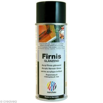 Vernis brillant Nerchau Firnis - aérosol 400 ml
