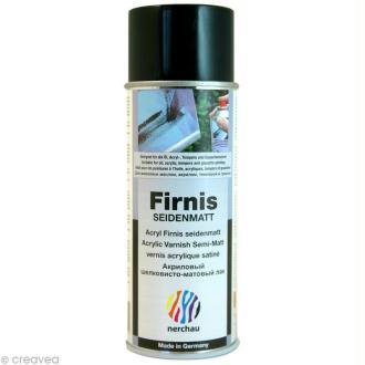 Vernis satiné Nerchau Firnis - aérosol 400 ml