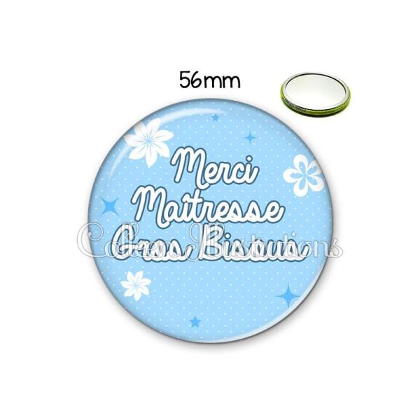 Miroir 56mm Merci maîtresse gros bisous - Photo n°1