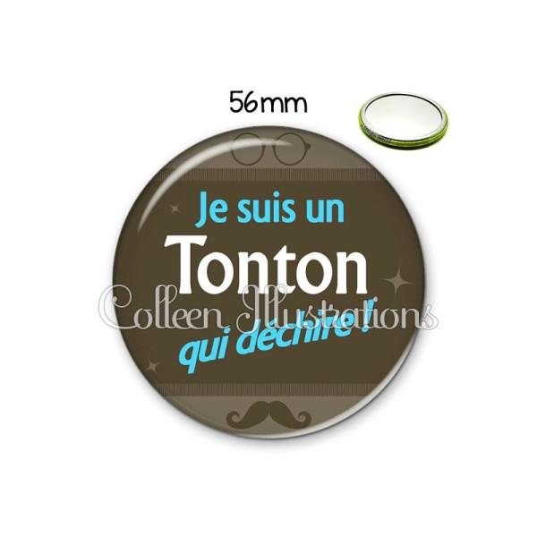 Miroir 56mm Tonton déchire - Photo n°1