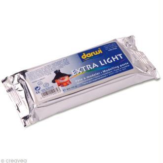 Pâte à modeler Darwi - Extra light Blanc - 160 gr