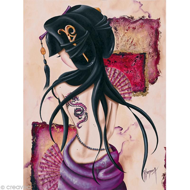 Image 3D Femme - Lilou Dragon - 40 x 50 cm - Photo n°1
