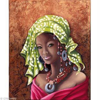 Image 3D Femme - Africaine - 40 x 50 cm