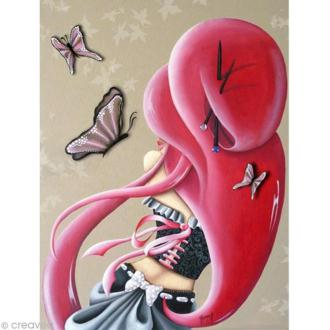 Image 3D Femme - Lilou Papillon - 30 x 40 cm