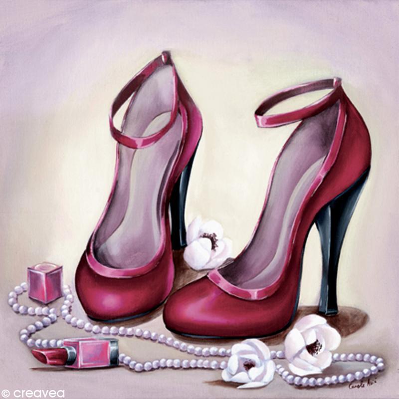 Image 3D Divers - Chaussures rouges - 30 x 30 cm - Photo n°1