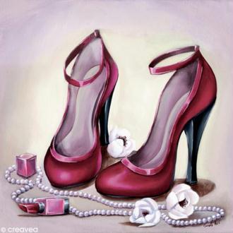 Image 3D Divers - Chaussures rouges - 30 x 30 cm
