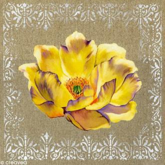 Image 3D Fleur - Fleur jaune - 30 x 30 cm