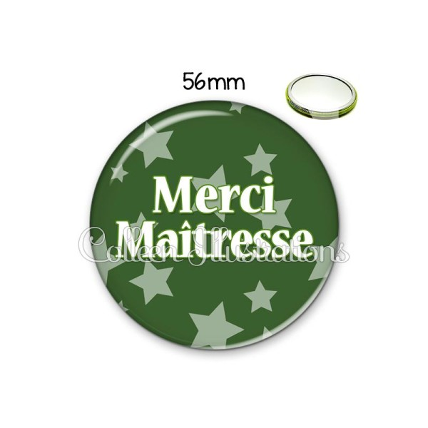 Miroir 56mm Merci maîtresse - Photo n°1