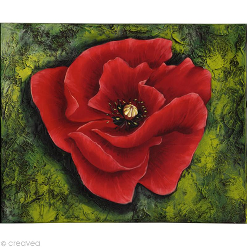Image 3d Fleur Coquelicot Rouge 24 X 30 Cm Images 3d 24x30 Cm