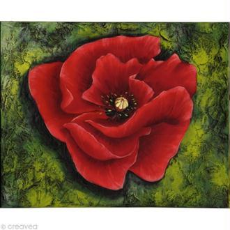 Image 3D Fleur - Coquelicot rouge  - 24 x 30 cm