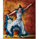 Image 3D Femme - Danseuse flamenco - 24 x 30 cm