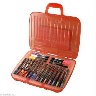 Mallette de 20 marqueurs Posca assortis - Metallic colors