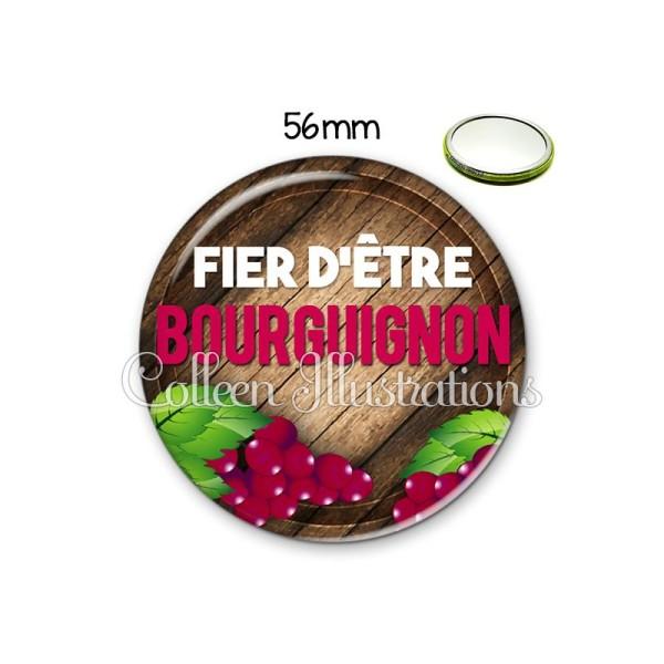 Miroir 56mm Fier d'être bourguignon - Photo n°1