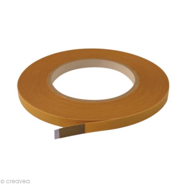 Rouleau double face marron - 9 mm x 50 m - Photo n°1
