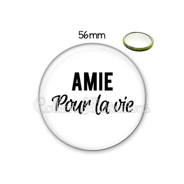 Miroir 56mm Amie pour la vie - Photo n°1