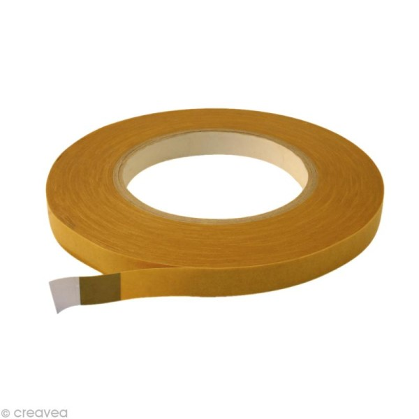 Rouleau double face marron - 12 mm x 50 m - Photo n°1