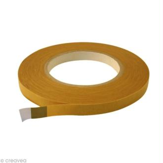 Rouleau double face marron - 12 mm x 50 m