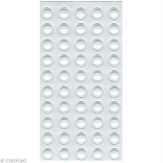 Gouttes d'eau adhésives 5mm x 50 - Translucide
