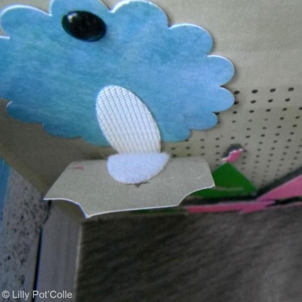 Pastille velcro ovale autocollante 3,5 x 1,2 cm - 5 pièces - Photo n°2