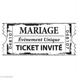 Tampon Mariage - Cinéma - Ticket mariage - 6 x 3 cm