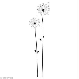 Tampon Mariage - Romantique campagne - Deux pissenlits - 9 x 3 cm