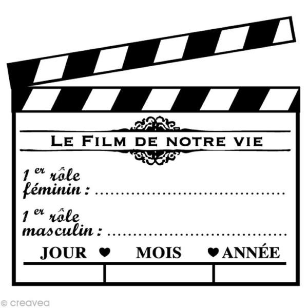 Tampon Mariage - Cinéma - Clap mariage - 6 x 6 cm - Photo n°1