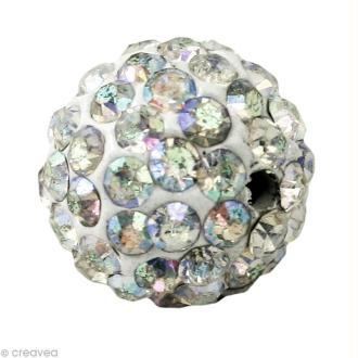 Perle Shamballa 7 mm - Cristal hologramme