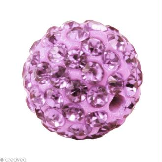 Perle Shamballa 7 mm - Violet améthyste clair