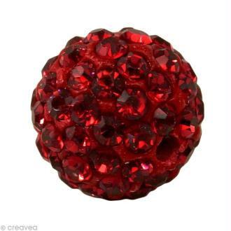 Perle Shamballa 7 mm - Rouge siam