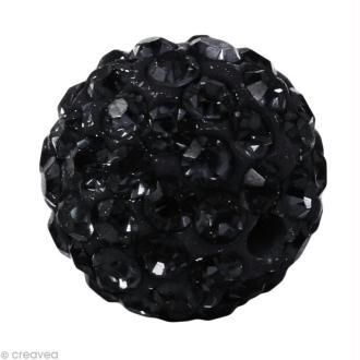 Perle Shamballa 10 mm - Noir quartz