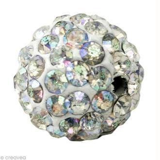 Perle Shamballa 10 mm - Cristal hologramme
