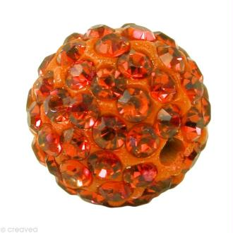 Perle Shamballa 10 mm - Orange hyacinthe