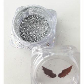 Bio Glitter Argent fin paillettes cosmétique biodégradables