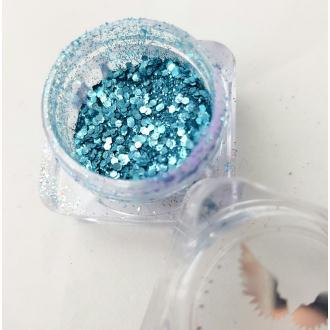 Bio Glitter Turquoise paillettes cosmétique biodégradables