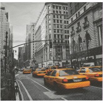 4 Serviettes en papier New York Taxi Format Lunch