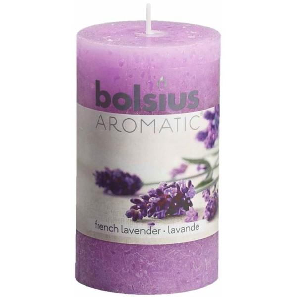 103626240377 Bougie Rustique Bolsius Lavande Française Parfumée 6 Pcs CxBdoe
