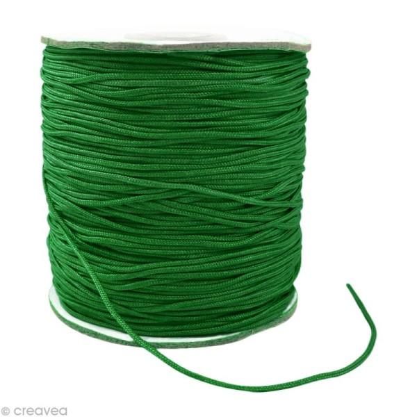 Cordon Shamballa 1,5 mm - Vert foncé au mètre (sur mesure) - Photo n°1