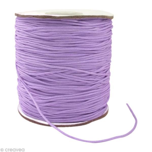 Cordon Shamballa 1,5 mm - Violet améthyste au mètre (sur mesure) - Photo n°1