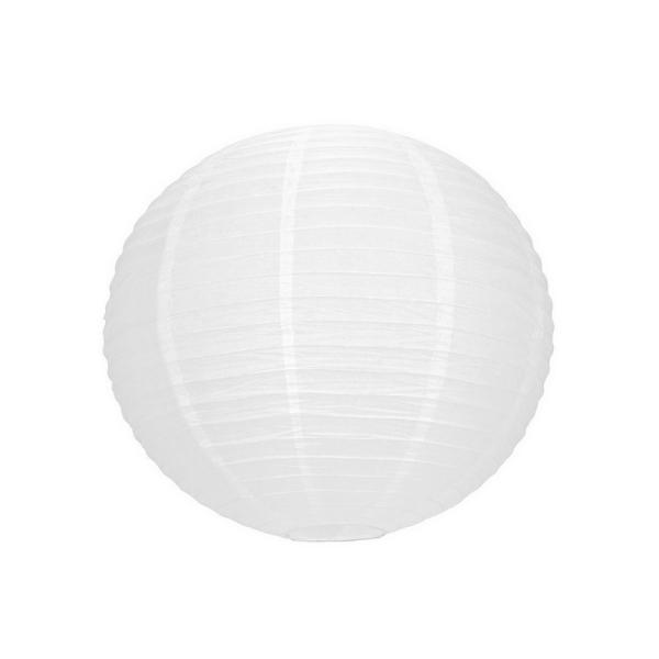 Lampion Boule chinoise blanche, Lanterne japonaise, 35 cm de diamètre, à suspendre - Photo n°1