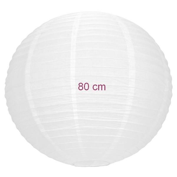 Maxi Lampion Boule Géante Chinoise Blanche Lanterne Japonaise 80 Cm De Diamètre à Suspendre