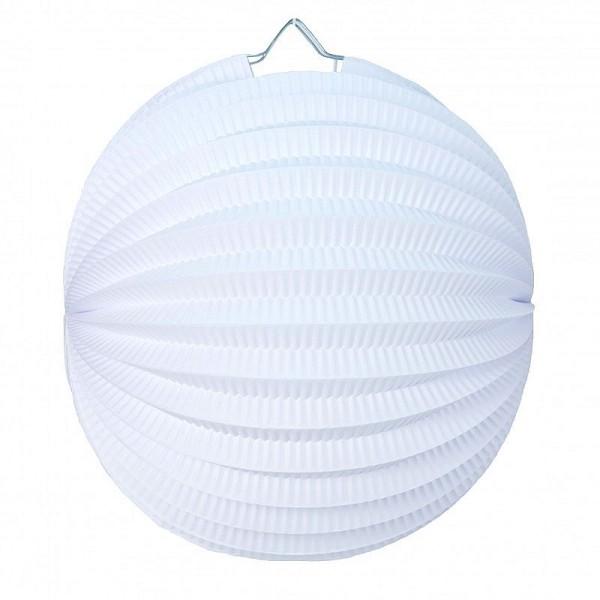Lampion boule de 20 cm, Papier accordéon Blanc à suspendre pour une déco printanière - Photo n°2