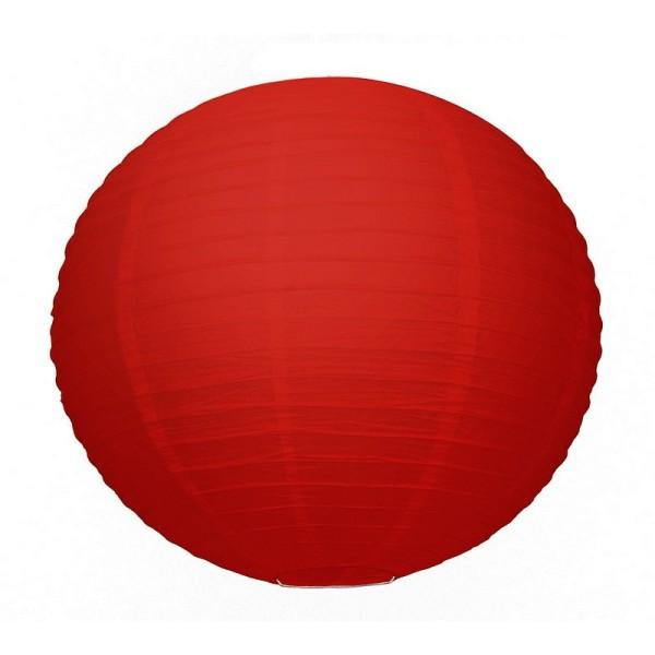 Grande Lanterne Japonaise Rouge, Lampion boule Papier, 50 cm, à suspendre - Photo n°1