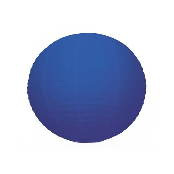 Lanterne Japonaise Bleu Foncé, Lampion boule Papier, 35 cm, à suspendre - Photo n°1