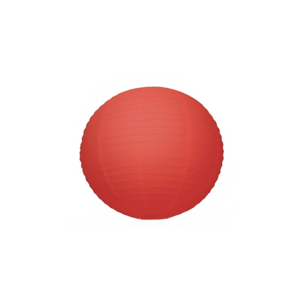Petite Lanterne Japonaise Rouge, Lampion boule Papier, 15 cm, à suspendre - Photo n°1