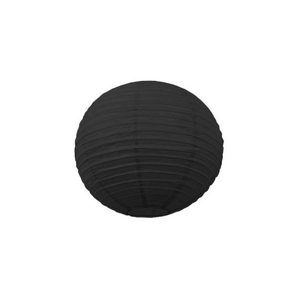 Petite Lanterne Japonaise Noire, Lampion boule Papier, 15 cm, à suspendre - Photo n°1