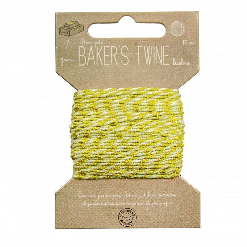 Cordonnet de fil blanc et jaune diam 1 mm longueur 10 - Cuisine amenagee en longueur ...